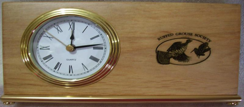 Clock Engraved for the Ruffed Grouse Society