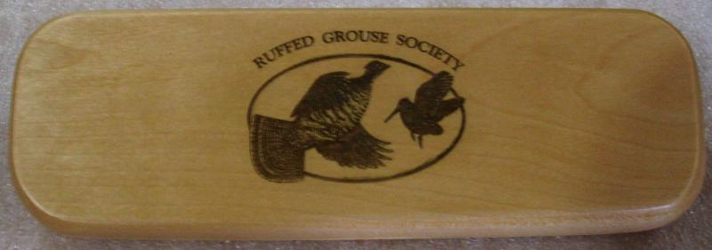 Pen Box Engraved for the Ruffed Grouse Society