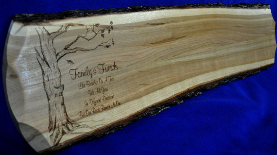 Click Here To Visit Our Etsy For Options And Pricing Rustic Wedding Guest Book